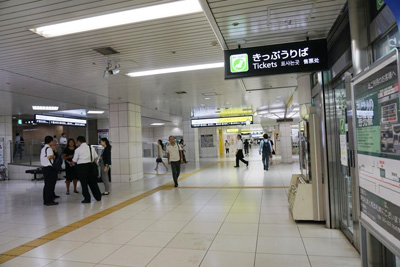 JR東西線『北新地駅』からコリ研究所までその4